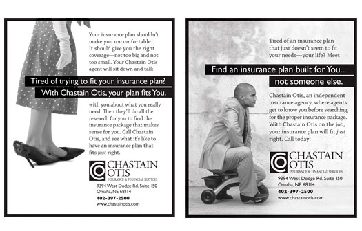 Chastain Otis, Insurance & Financial Services, Newspaper Ads