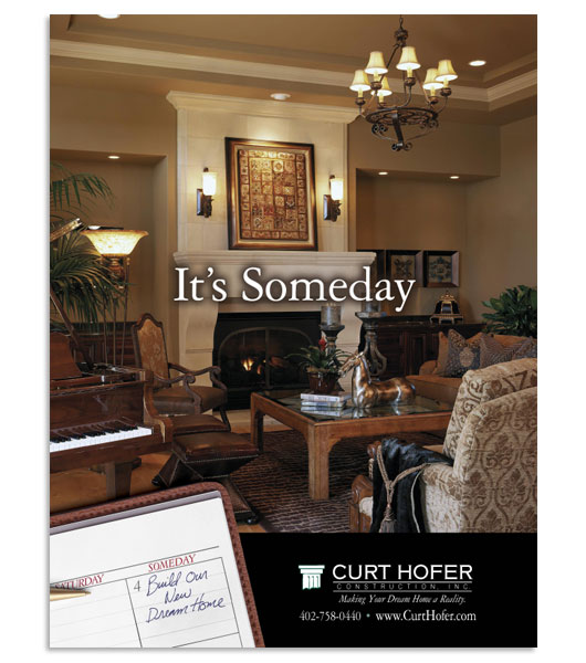 Curt Hofer Construction, Home Builder, Magazine Ad