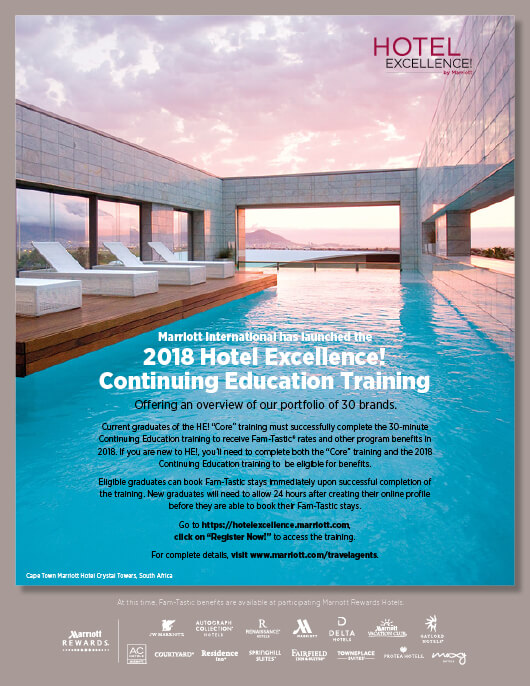 Marriott Hotel Excellence! Magazine Ad