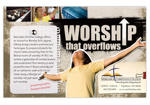 Nebraska Christian College Worship Arts Department Magazine Ad