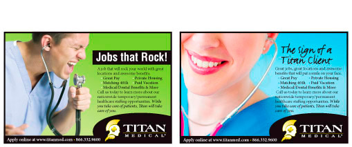 Titan Medical Group, Professional Staffing Firm Magazine Ads