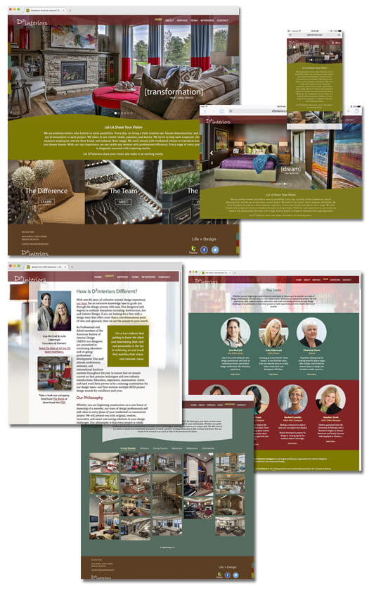 D3interiors, Interior Design Firm Website