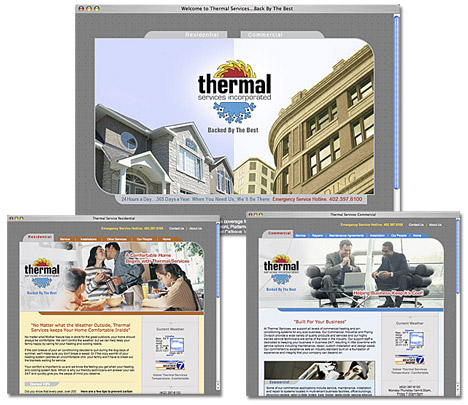 Thermal Services Website imges.